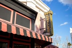 Lucille`s Smokehouse Bar-B-Q restaurant sign stock photo
