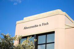 Abercrombie and Fitch store sign stock images