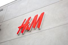 H&M store front stock photography