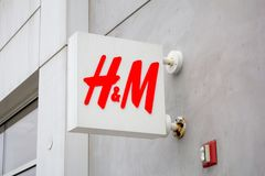H&M store front stock photos