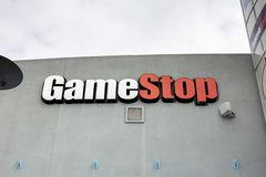 GameStop store sign royalty free stock image