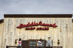Saddle Ranch Chop House restaurant sign stock images