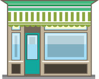 Store Front Vector Royalty Free Stock Image