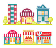 Store front window concept stock illustration