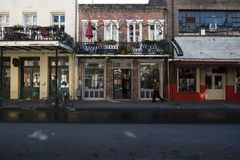 Store fronts at the French Quarter royalty free stock photos