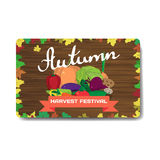 Store fruits and vegetables. Sale discount gift card. Royalty Free Stock Photography