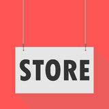 Store Hanging Sign. Hanging Sign store, vector icon Stock Images