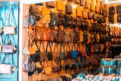 Store In Hoi An Selling Custom Leather.  royalty free stock photos
