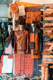 Store In Hoi An Selling Custom Leather.  royalty free stock photo