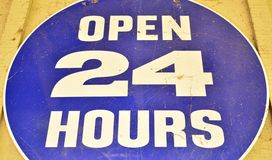 Store hours sign Royalty Free Stock Images