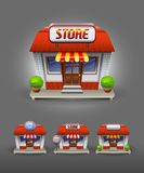Store icon. Vector collection of a Store icon Royalty Free Stock Image