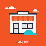 Store icon. Abstract vector illustration of store flat design concept Stock Image