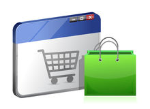 Store icon browser Royalty Free Stock Images