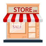 Store icon isolated on white Stock Photography