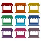 Store icons set. Vector icon stock illustration