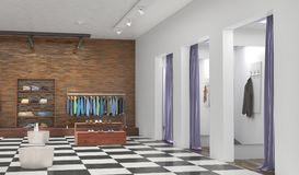 Store interior. 3d illustration Royalty Free Stock Photography