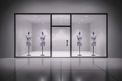 Store Interior With Mannequins Stock Image