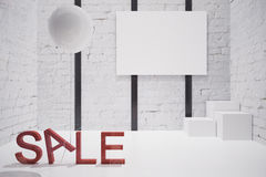 Store interior sale Royalty Free Stock Photography