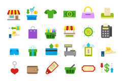 Store isolated  icons set. Set of 24 store isolated  icons Stock Photos