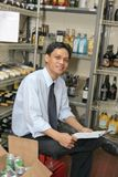 Store keeper. At work smiling Stock Photos