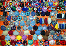 Store of  kippah. JERUSALEM ISRAEL 27 10 16: Store of  kippah is a brimless cap, usually made of cloth, worn by Jews to fulfill the customary requirement held by Royalty Free Stock Photos