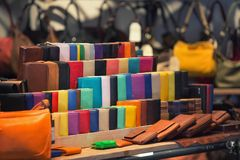 Store leather goods Royalty Free Stock Image