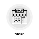 Store Line Icon Stock Photo