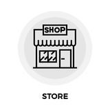 Store Line Icon. Store icon vector. Flat icon isolated on the white background. Editable EPS file. Vector illustration Stock Photo