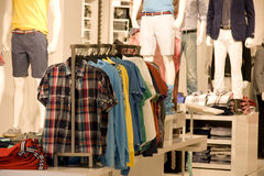 Man fashion clothing store Stock Photography