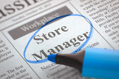 Store Manager Join Our Team. 3D. Stock Photos