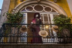 store mannequin, Sintra, Vintage, Retro royalty free stock images