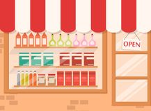 Store and Market background with shelf Royalty Free Stock Photography