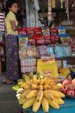 A store at the Market of Nyaung U Royalty Free Stock Photos