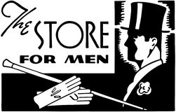 The Store For Men Royalty Free Stock Photos