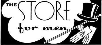 The Store For Men 2 Royalty Free Stock Photo