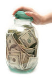 Store money in bank. 4 royalty free stock photography