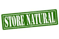 Store natural. Stamp with text store natural inside, illustration Royalty Free Stock Photography