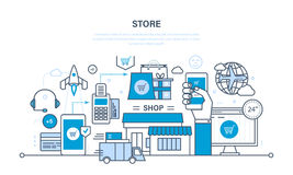 Store and online purchase Stock Images