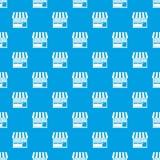 Store pattern seamless blue Royalty Free Stock Image