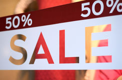 Store Sale Window Display Stock Image