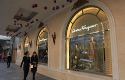 A store of Salvatore Ferragamo luxury brand locating at Trang Tien Plaza shopping center in Hanoi, Vietnam Stock Images