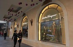A store of Salvatore Ferragamo luxury brand locating at Trang Tien Plaza shopping center in Hanoi, Vietnam Stock Images