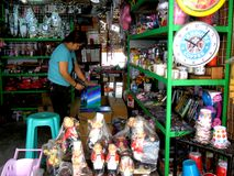 Store selling home decors in dapitan arcade in manila city philippines in asia Royalty Free Stock Images