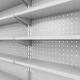 Store shelves Stock Photo
