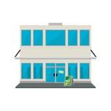 Store shop building stock illustration