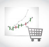 Store shopping business numbers Royalty Free Stock Photography