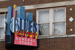 Store sign on Beale Street Royalty Free Stock Image