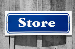 Store sign contrast Stock Photo