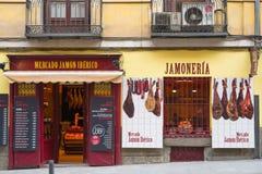 Store of spanish ham in Madrid centre Stock Photo