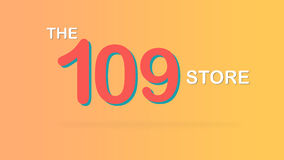 The 109 store special promotional sale backdrop graphic illustration. Royalty Free Stock Photos